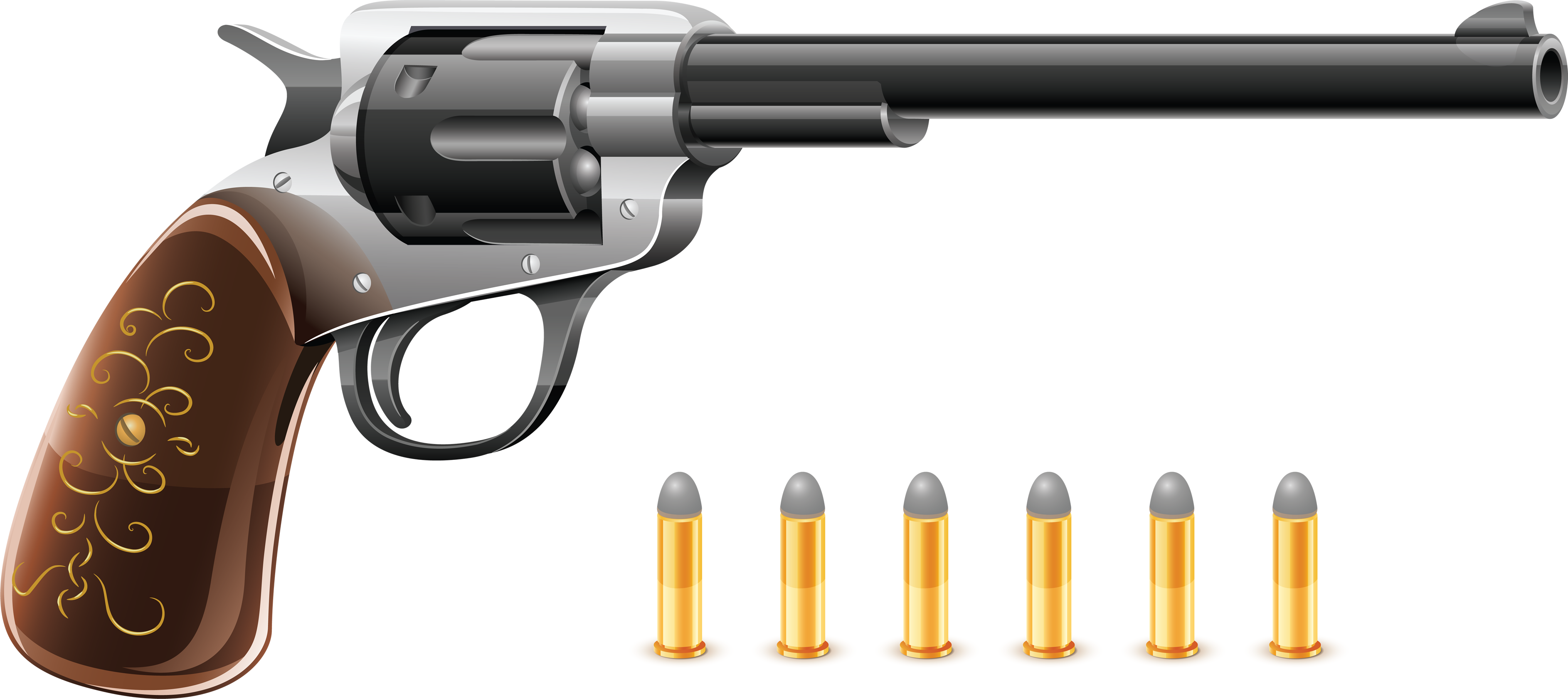Guns clipart simple. Pistol eleven isolated stock