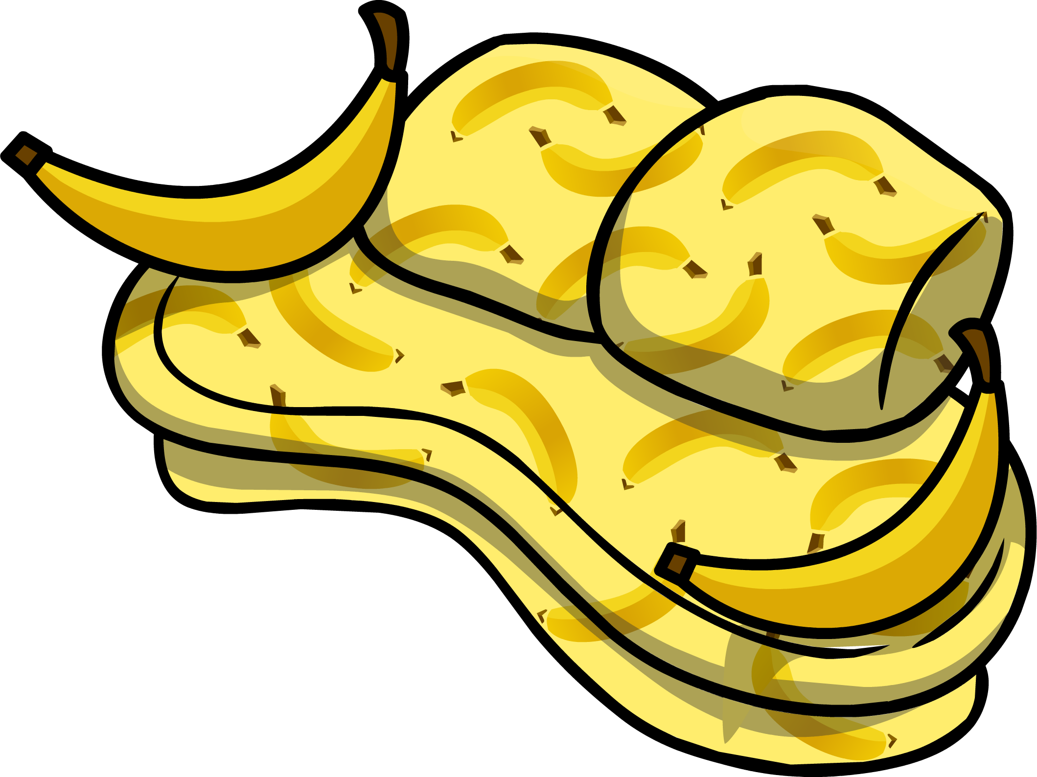 Image banana furniture icon. Couch clipart messy