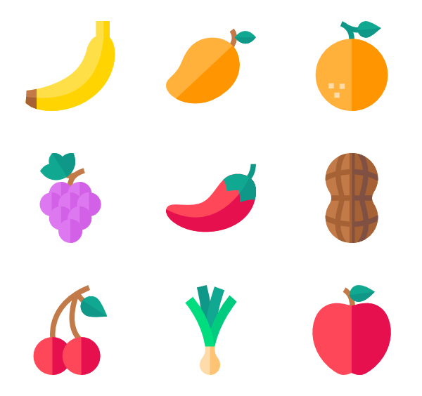 Grape clipart fruit individual.  banana icon packs
