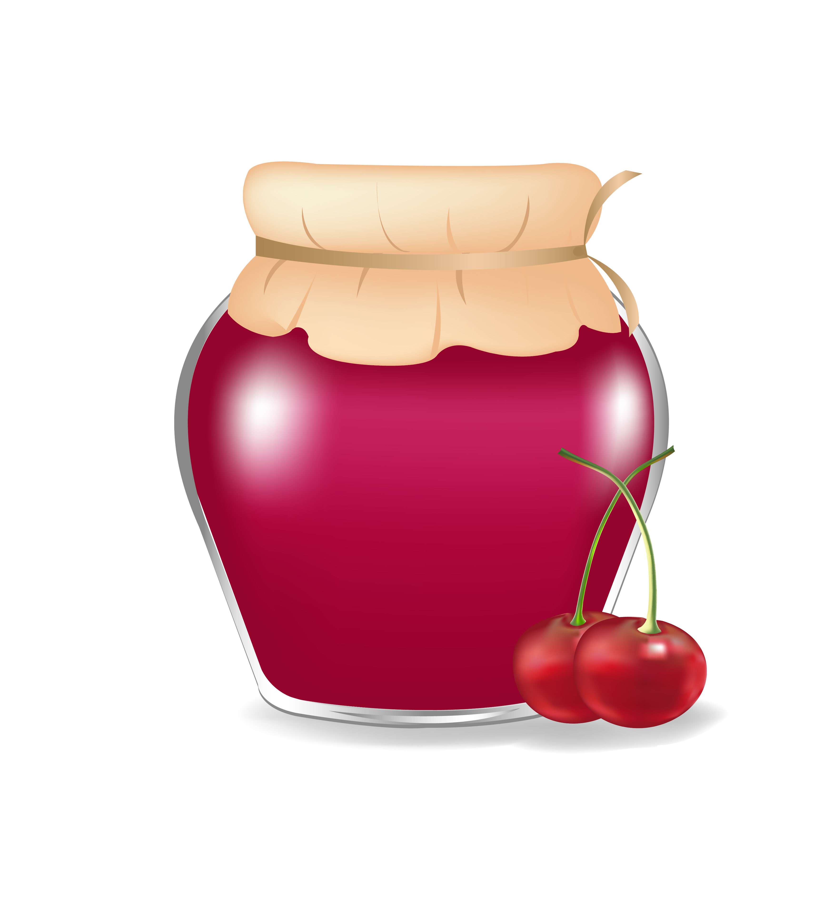 Clipart bread jam. Fruit preserves jar strawberry