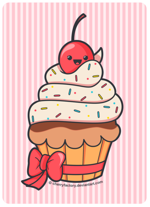 Cute cupcake by cherryfactory. Pie clipart bake sale item