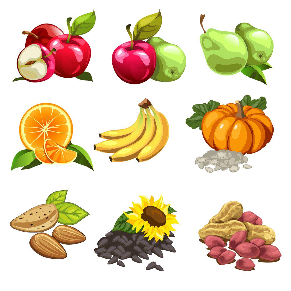 Nut cartoon fruit illustration. Pear clipart illustrated