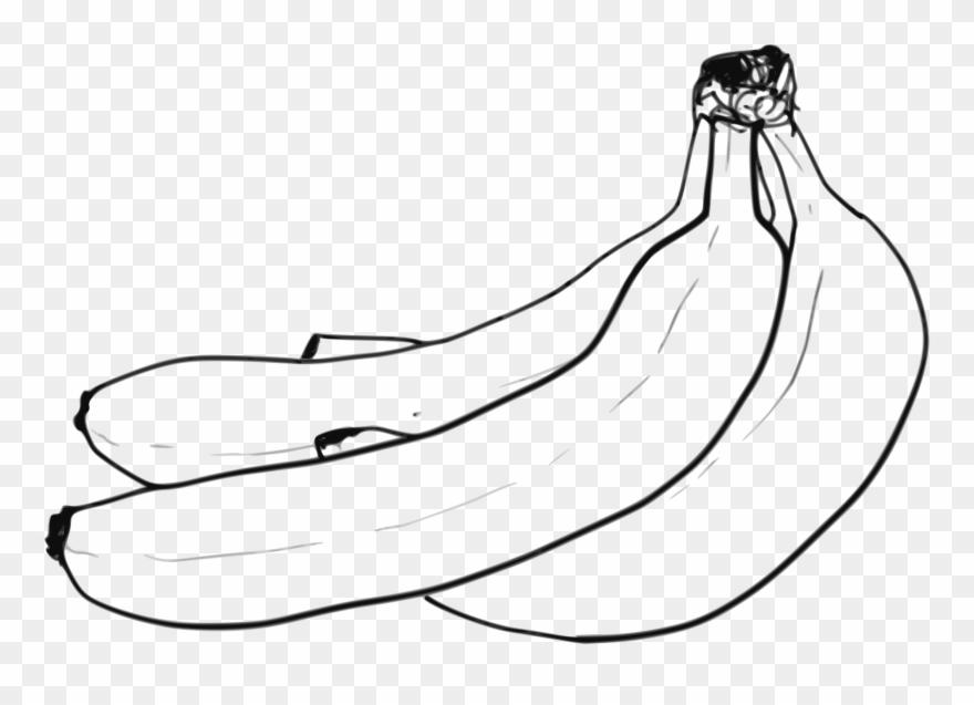 Bananas black and white. Mango clipart banana