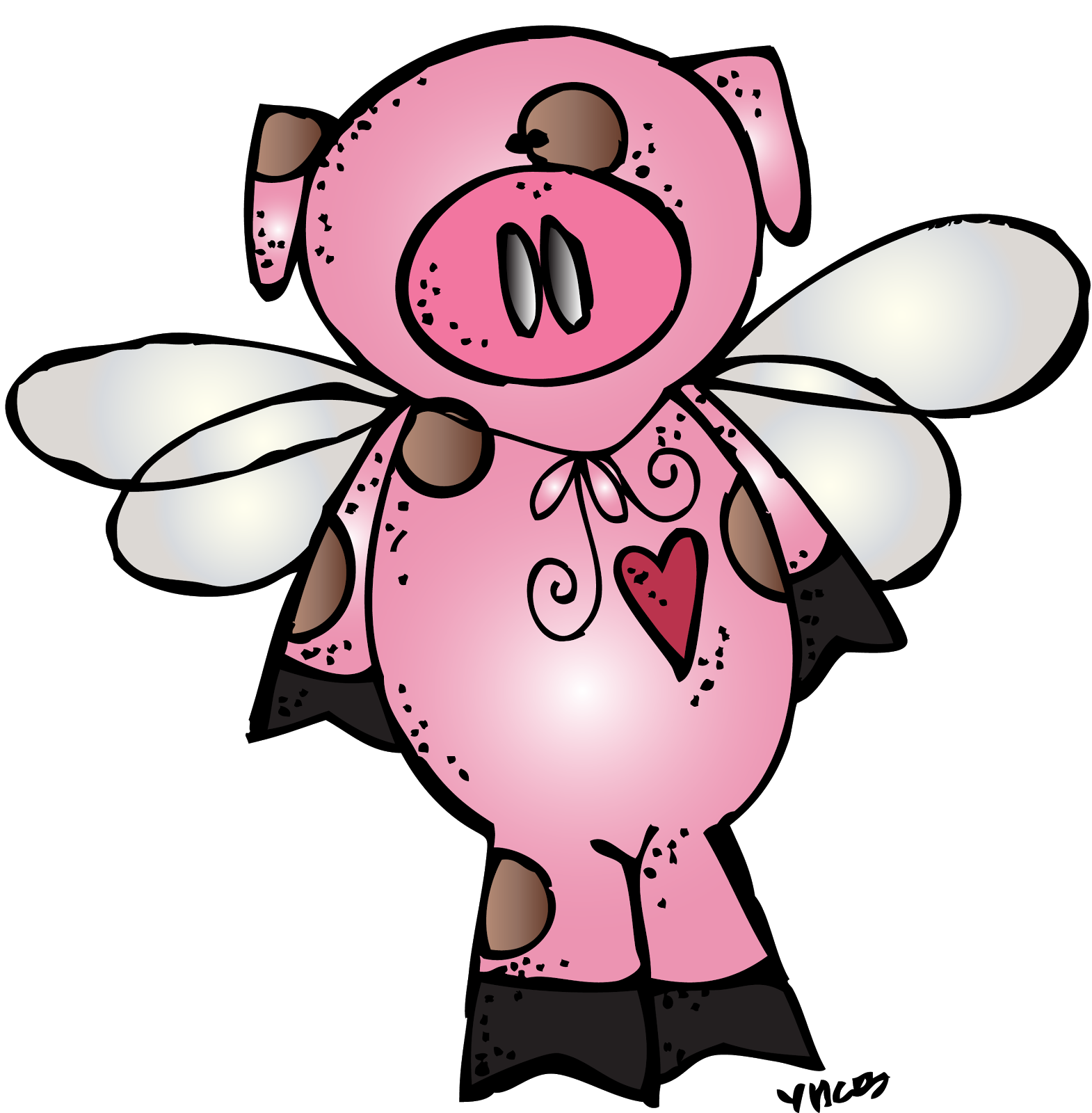 When pigs fly clip. Kiss clipart pig