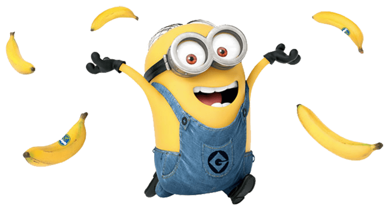 And bananas transparent png. Minions clipart purple minion