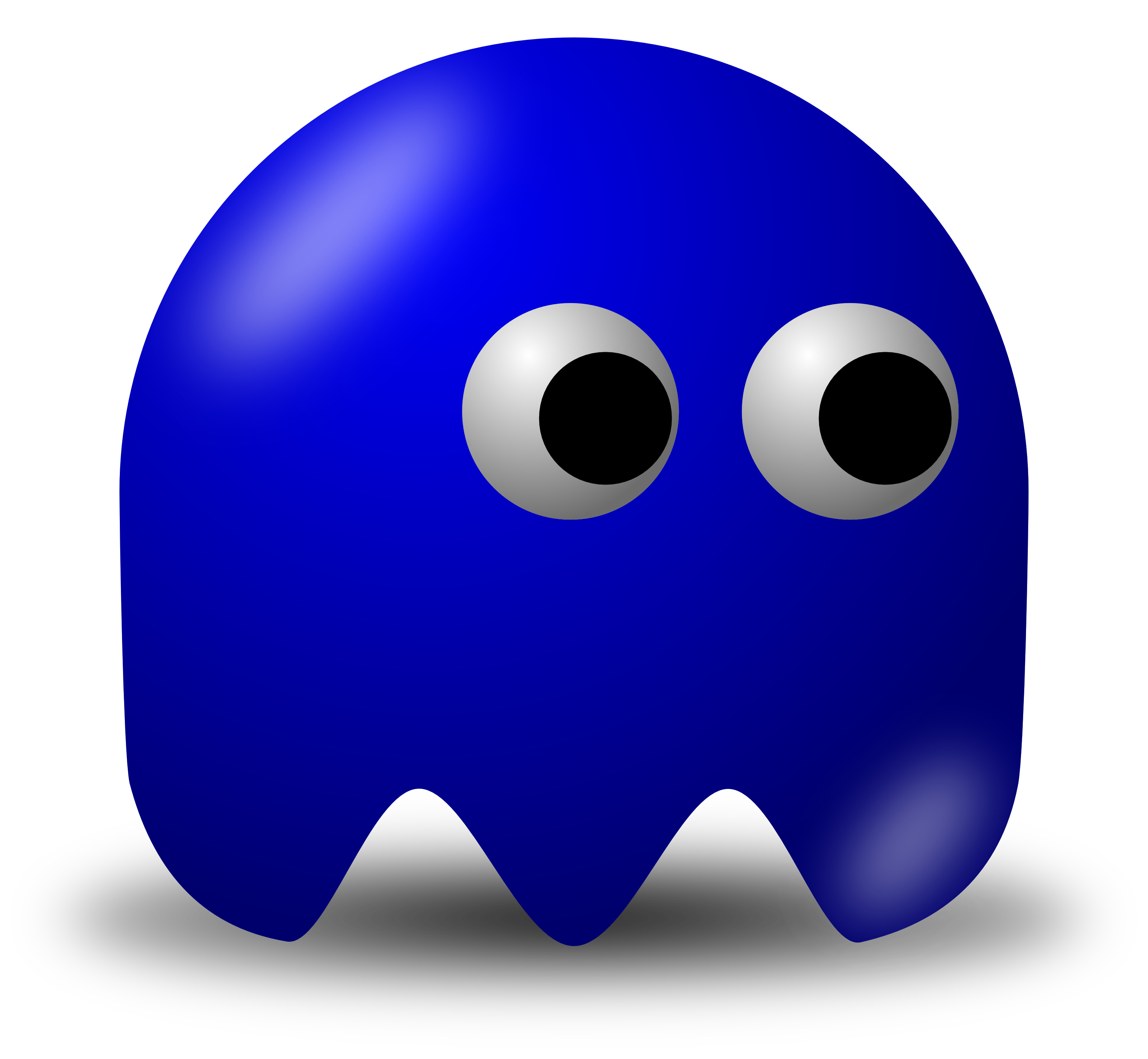 Pac man games video. Ghost clipart blue ghost