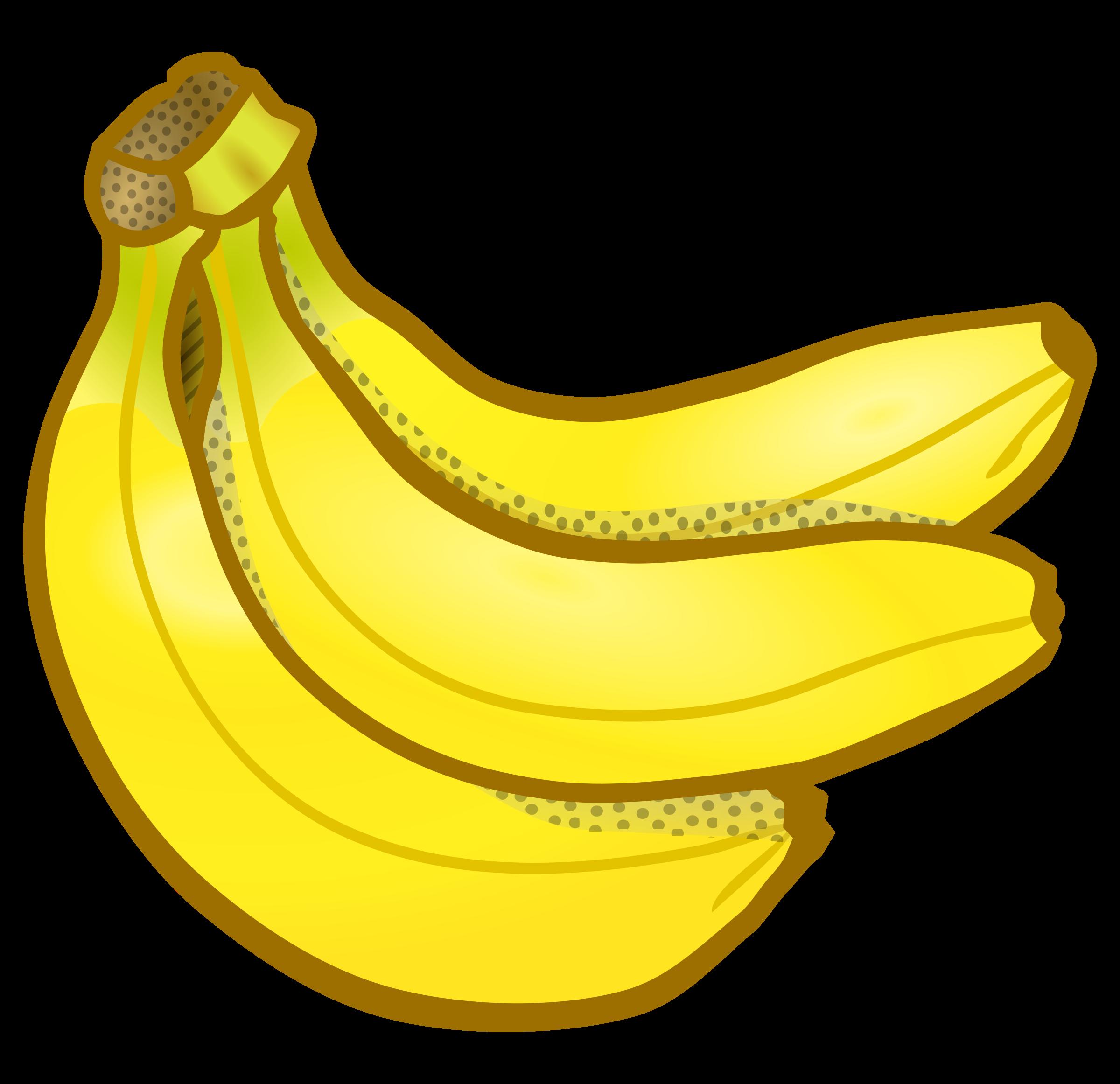 Banana clipart piece. Bunch of bananas coloured
