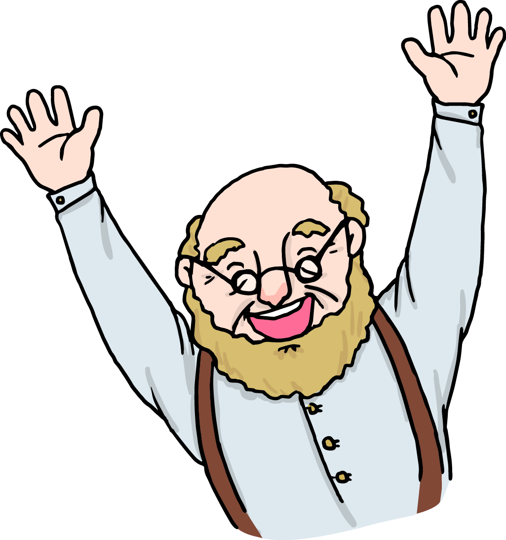 Old clipart aged person. Cartoon clip art man