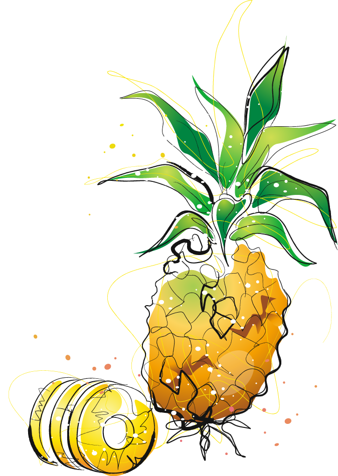 Pineapple clipart character. Cartoon drawing clip art