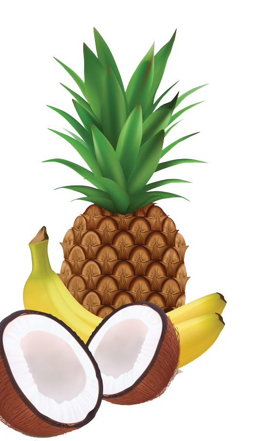 Juice milkshake coconut. Pineapple clipart banana