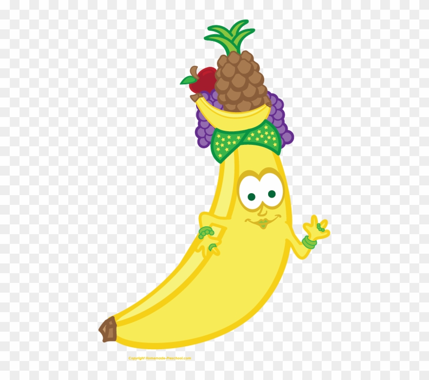 Pineapple clipart banana. Face fruit png download