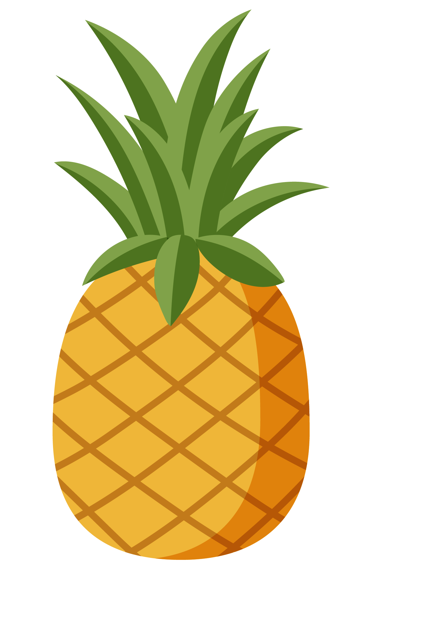Hawaiian pizza clip art. Pear clipart pineapple