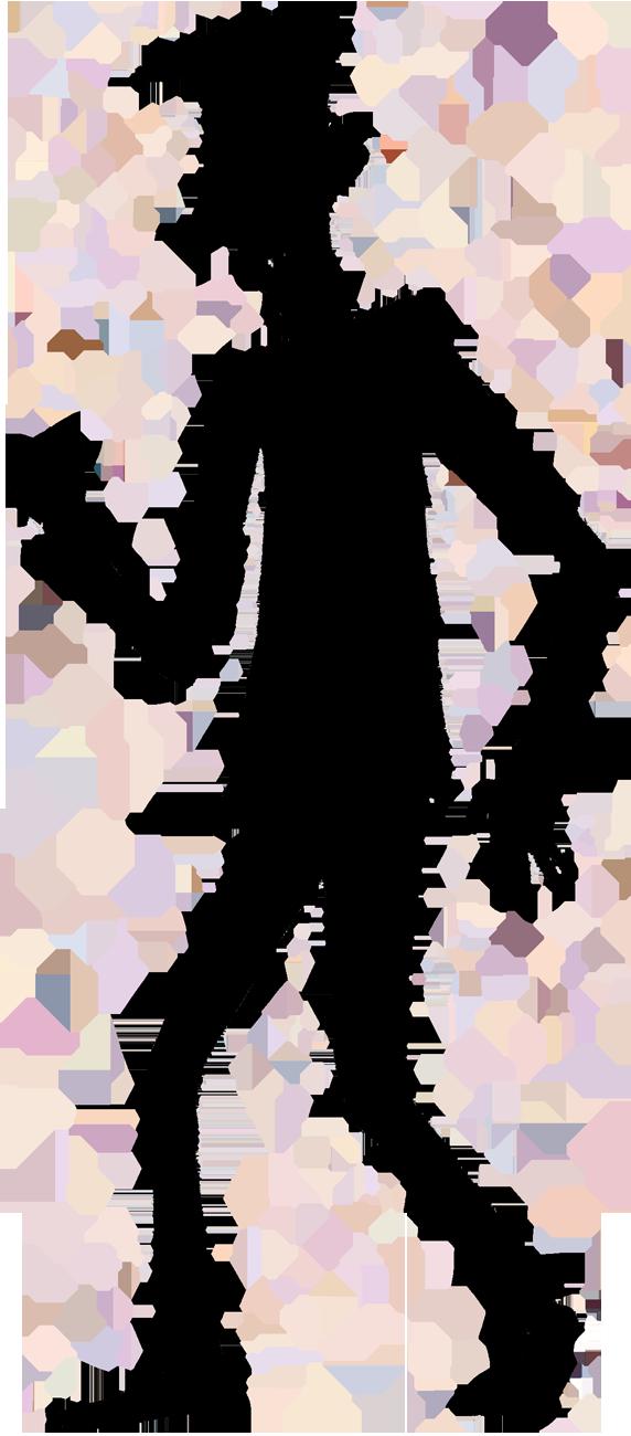 Shadow person cartoon silhouette. Male clipart blank man