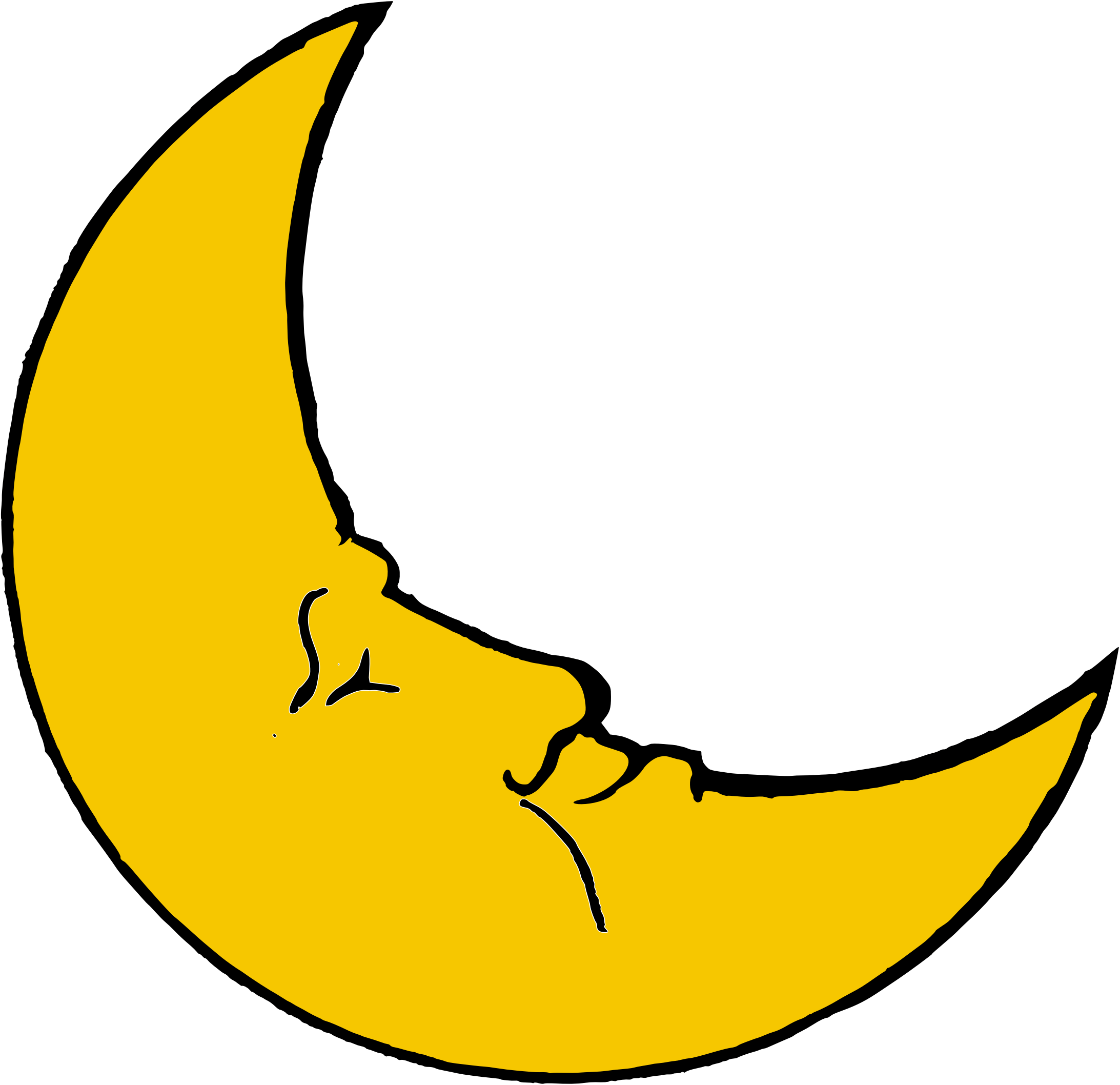 Clipart moon illustration. Detailed with shadow transparent