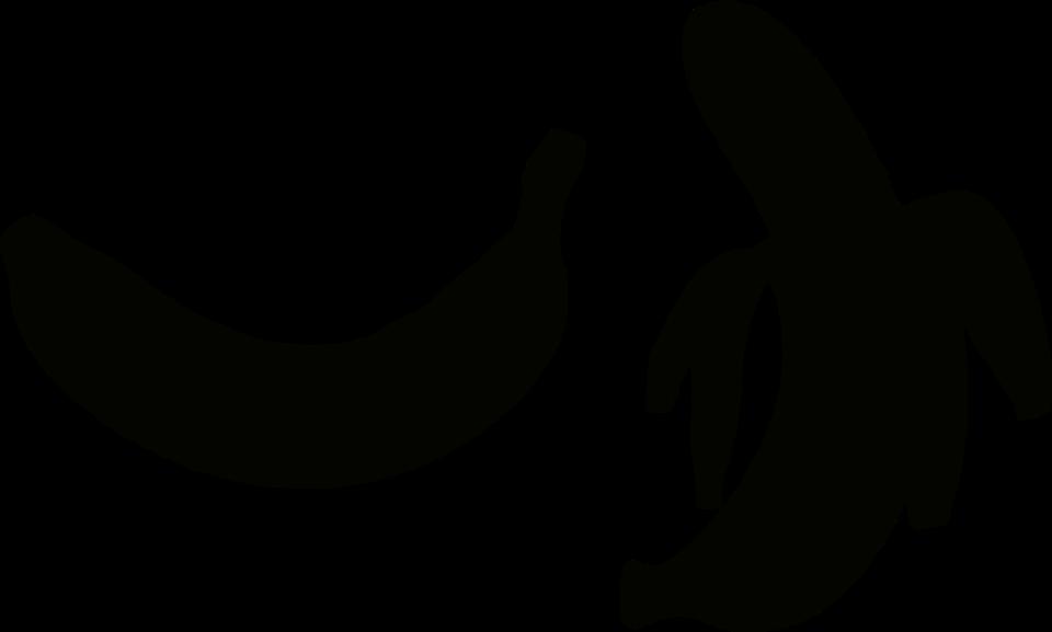 Banana silhouette free collection. Bananas clipart shadow