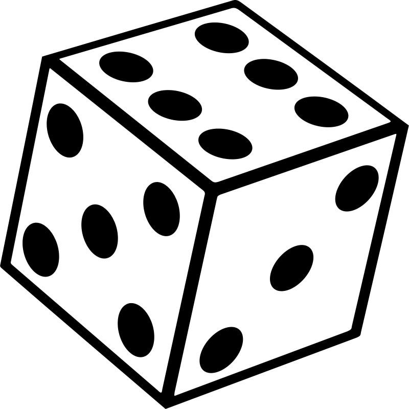 Game clipart black and white. Dice seconds yahtzee clip