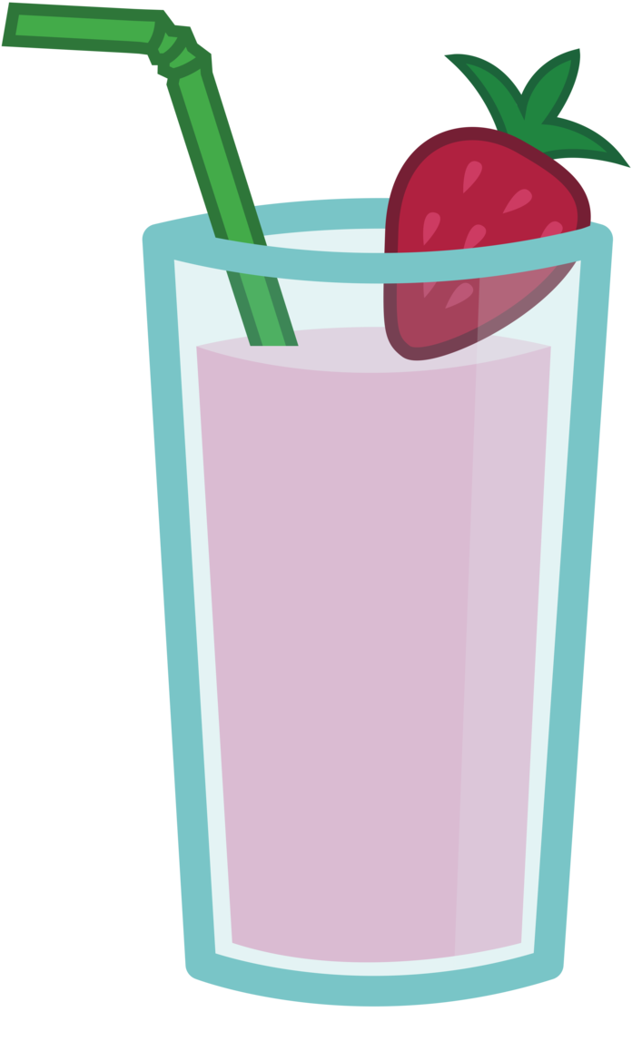 Strawberry and banana smoothie. Drinks clipart vector