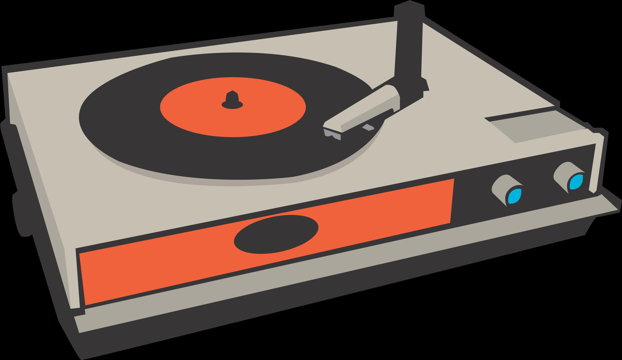 Phonograph record disc jockey. Electronics clipart tech