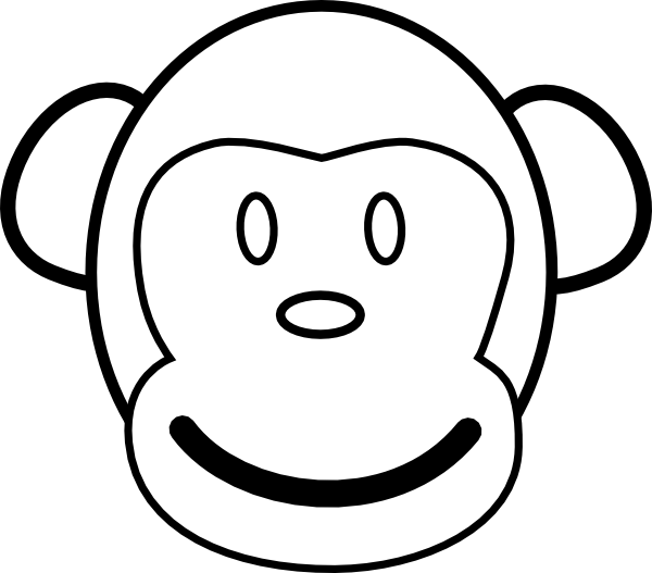 Clipart skull monkey. Face clip art at