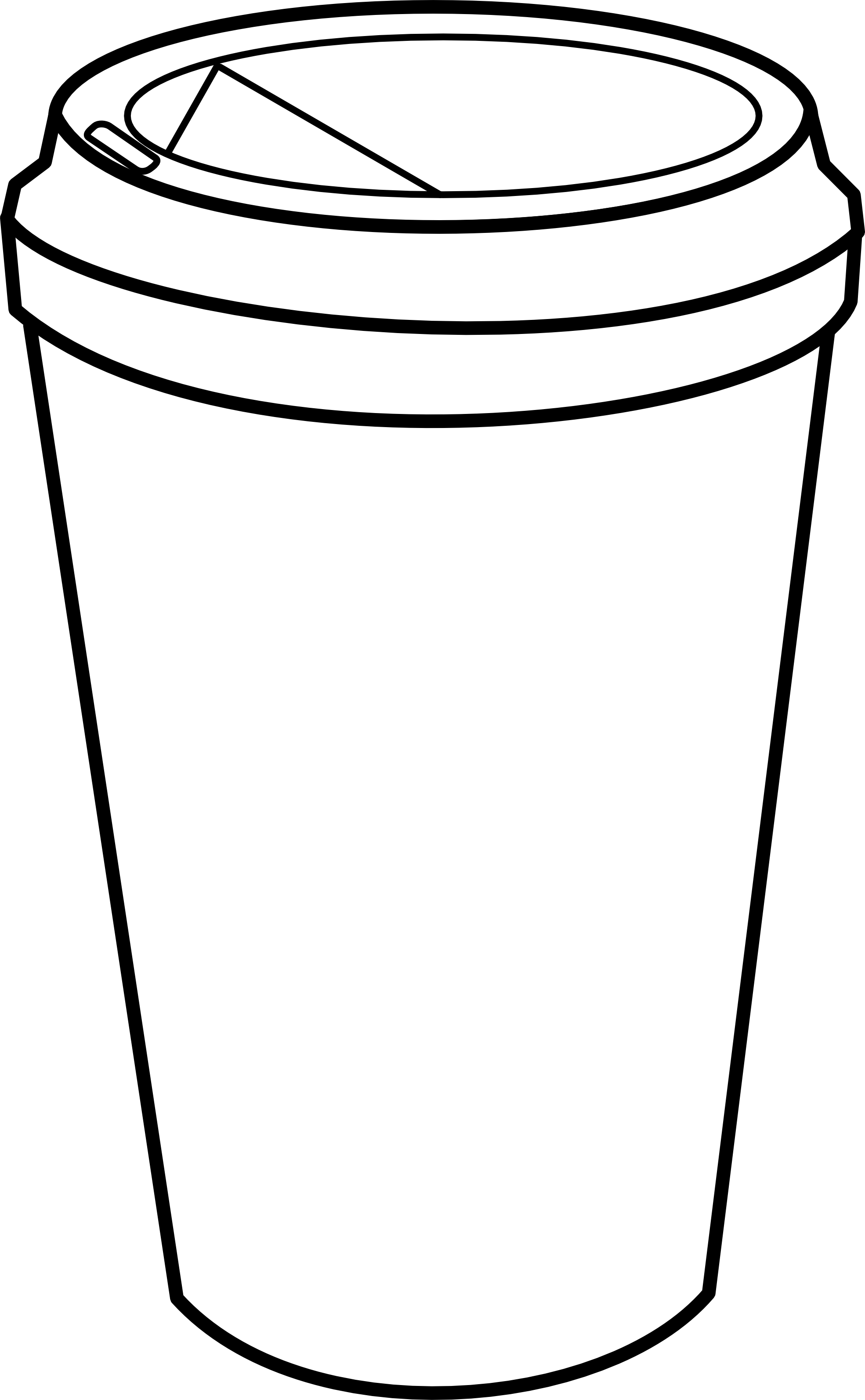 Black and white panda. Food clipart coffee