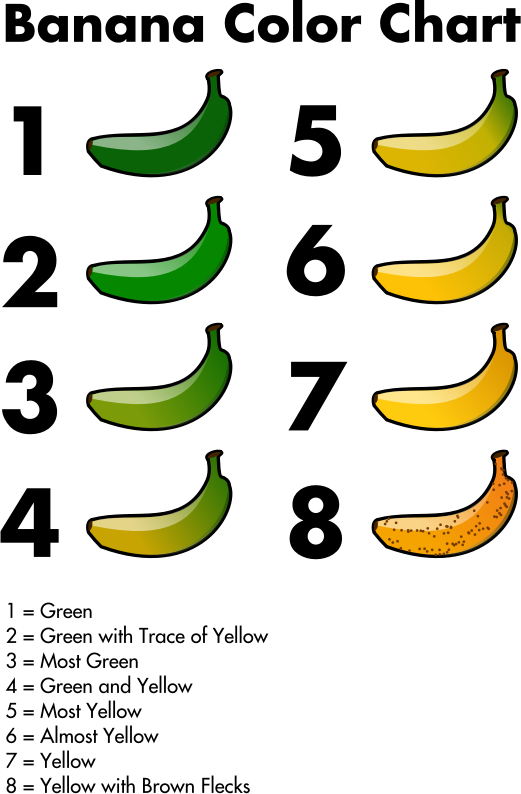 Color chart by jhnri. Clipart banana waste