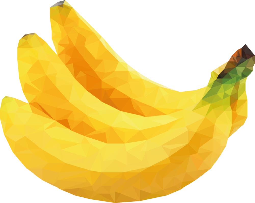 Clipart banana yellow food. Low poly by oddkh