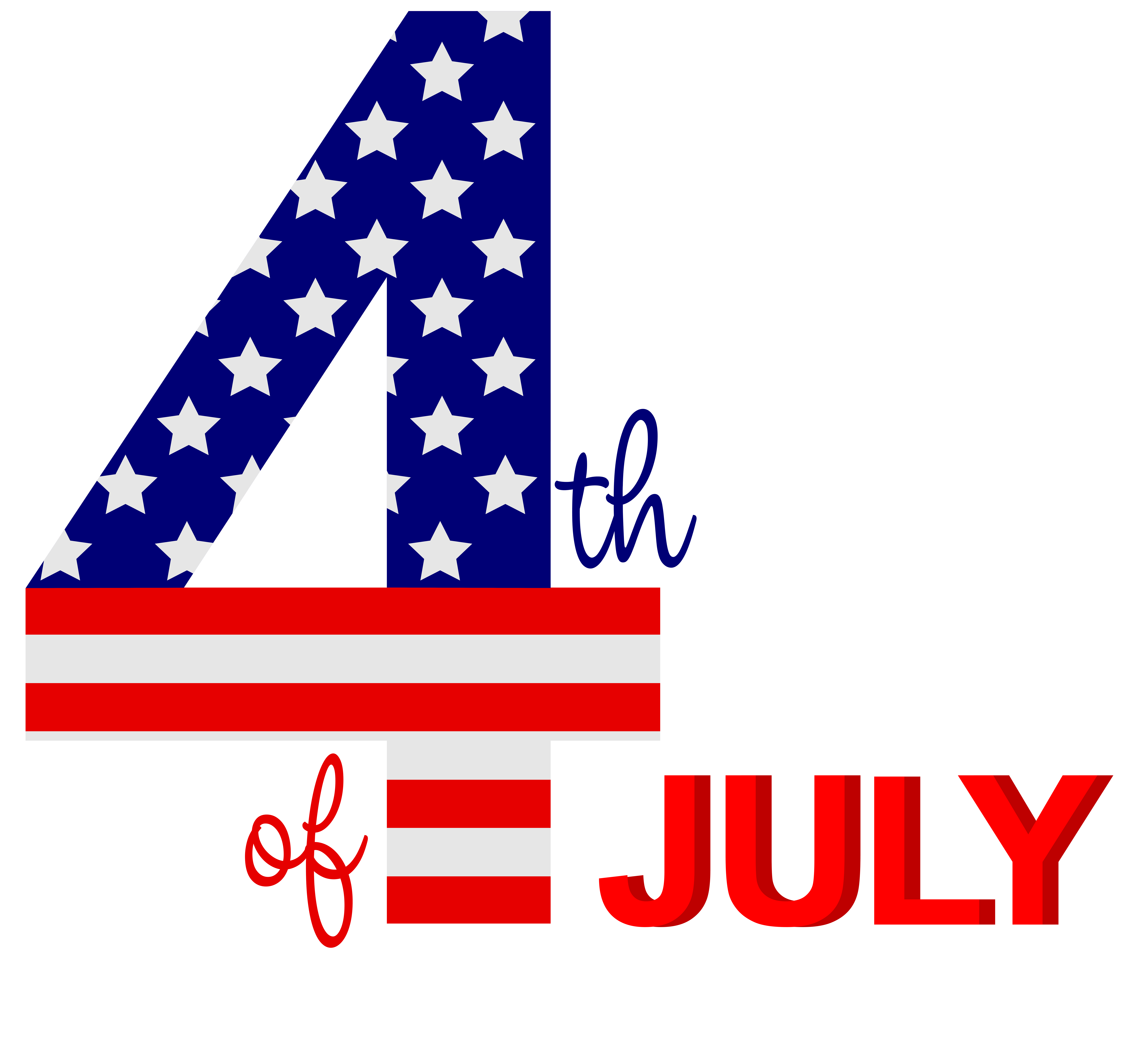 th of png. Clipart bow 4th july
