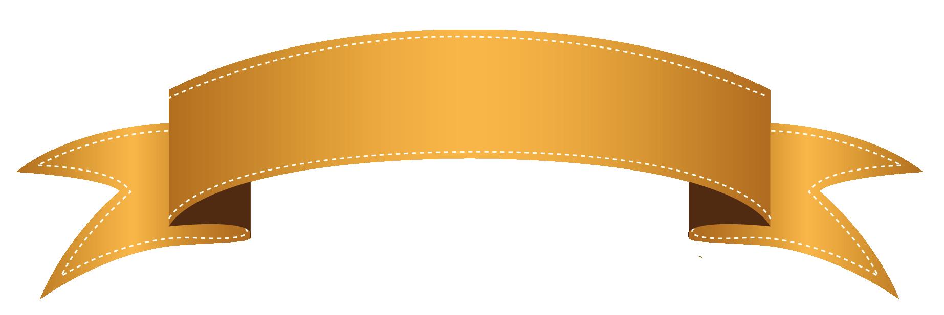 Clipart banner. Orange transparent png gallery
