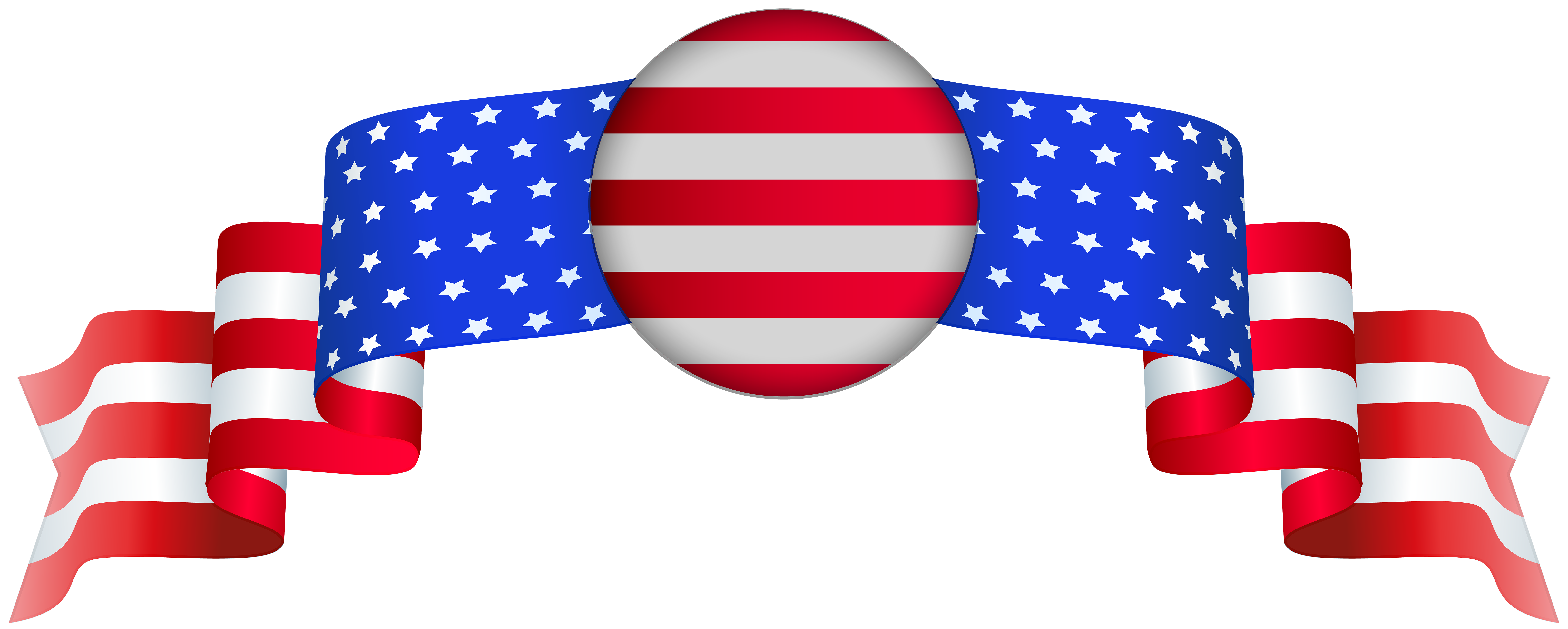 Png clip art image. July clipart banner usa