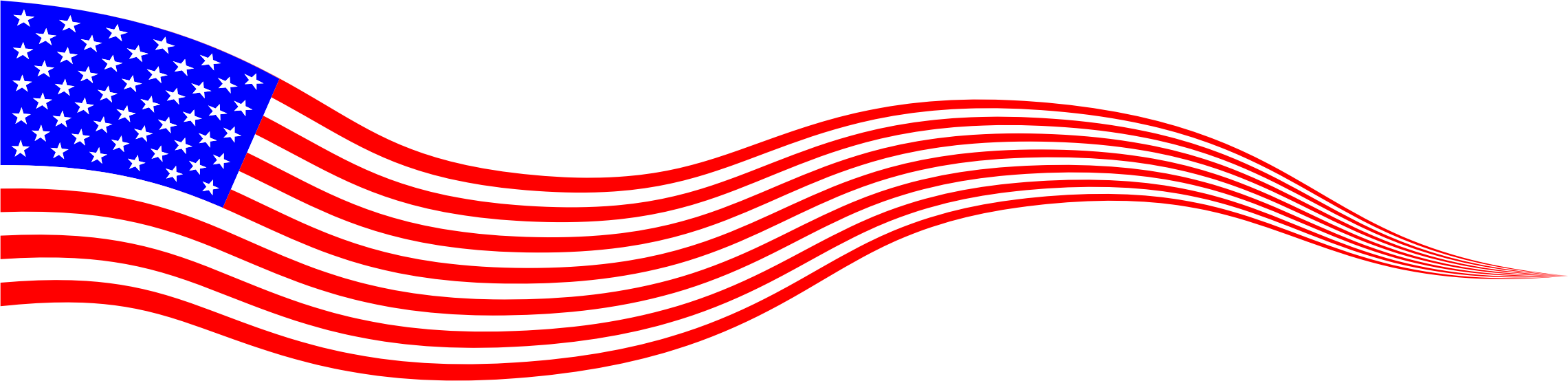 Usa flag banner by. Square clipart wavy