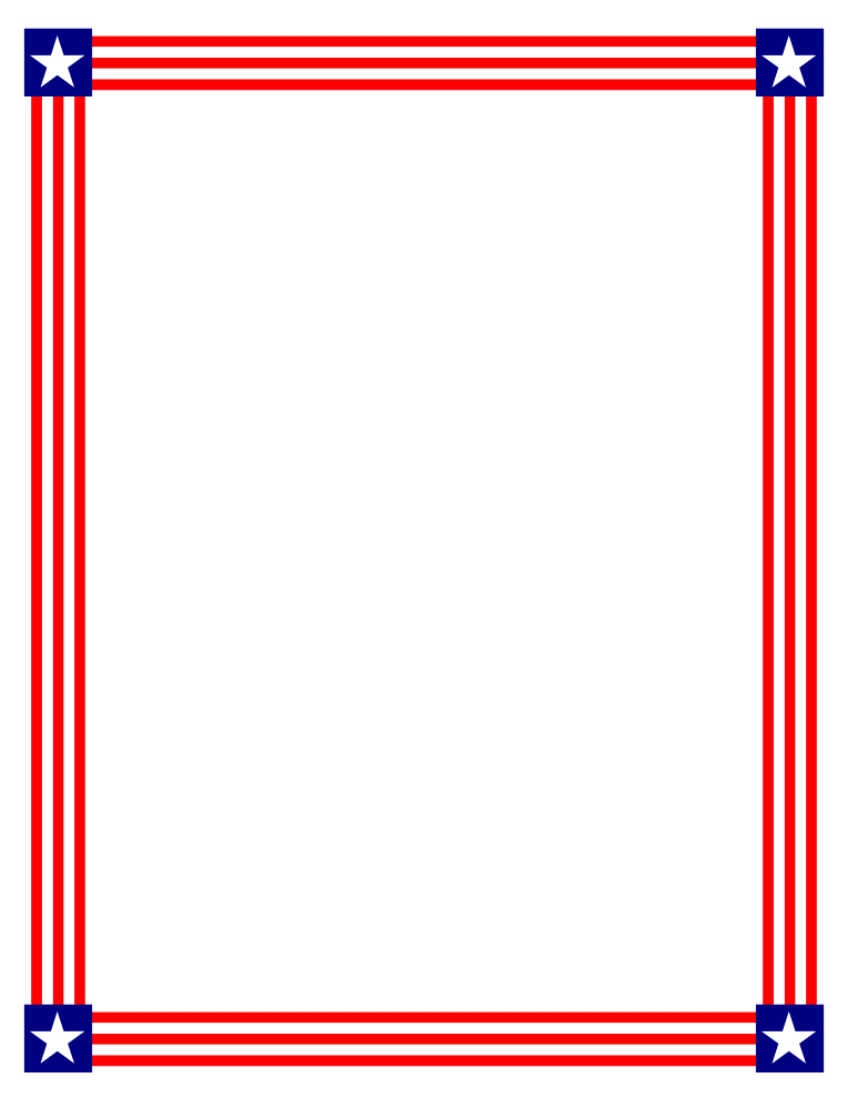 American flag banner panda. Clipart car borders