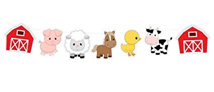 Amazon com animal garland. Farm clipart banner