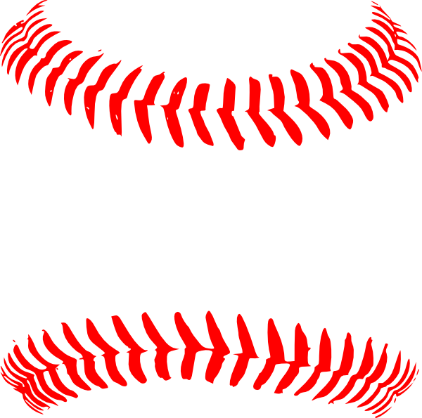 Red baseball seams hi. Stitch clipart softball