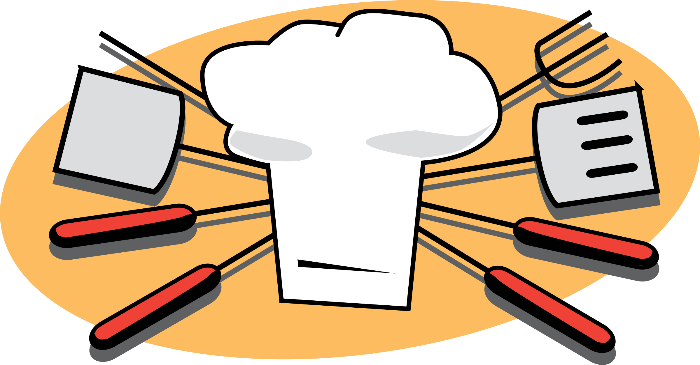 Clipart restaurant food preparation. Free bbq fire cliparts