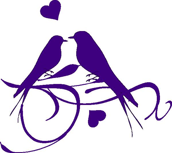 Purple love birds panda. Couple clipart bird