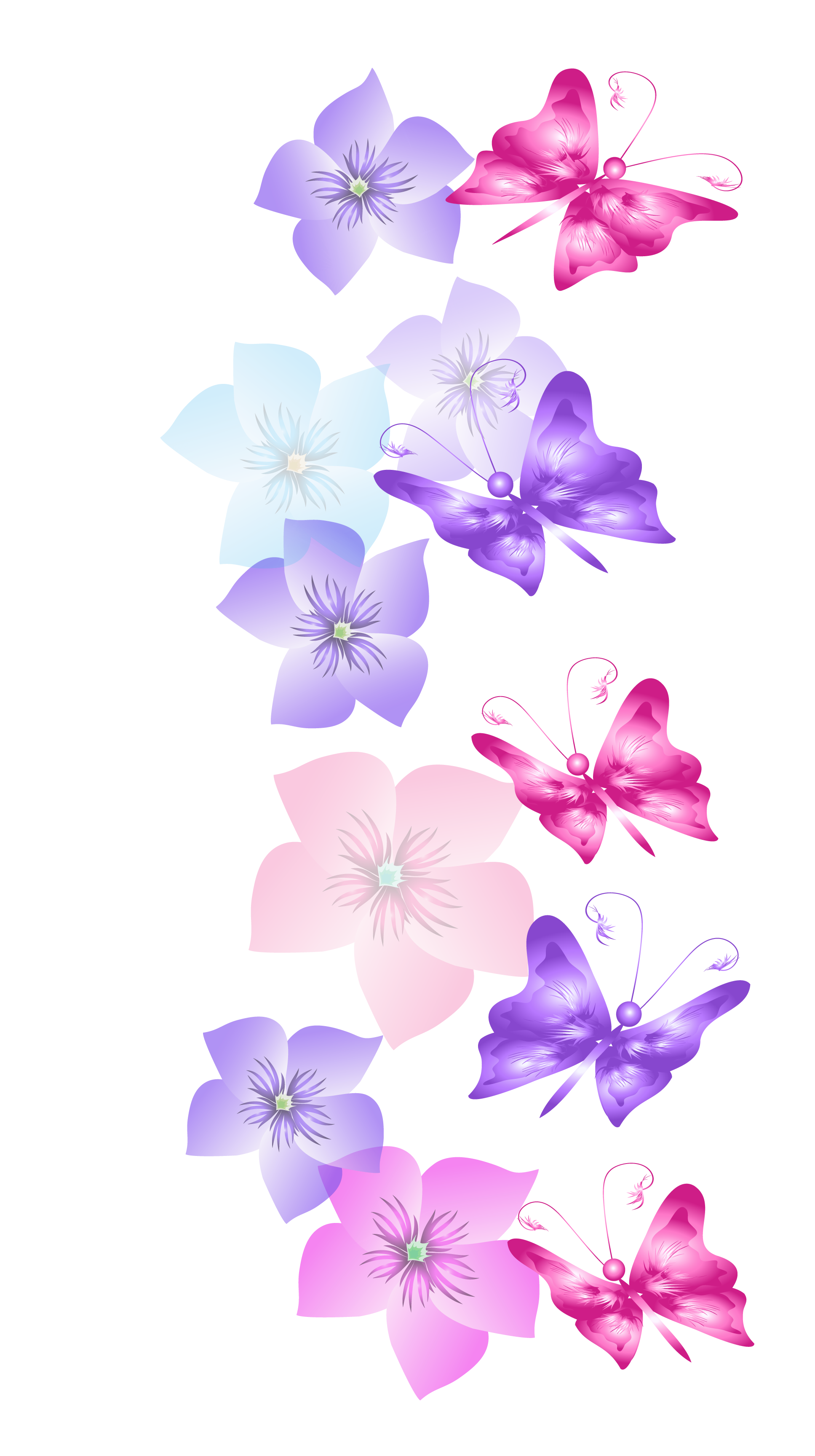 Flower clipart butterfly. Butterflies and flowers decoration
