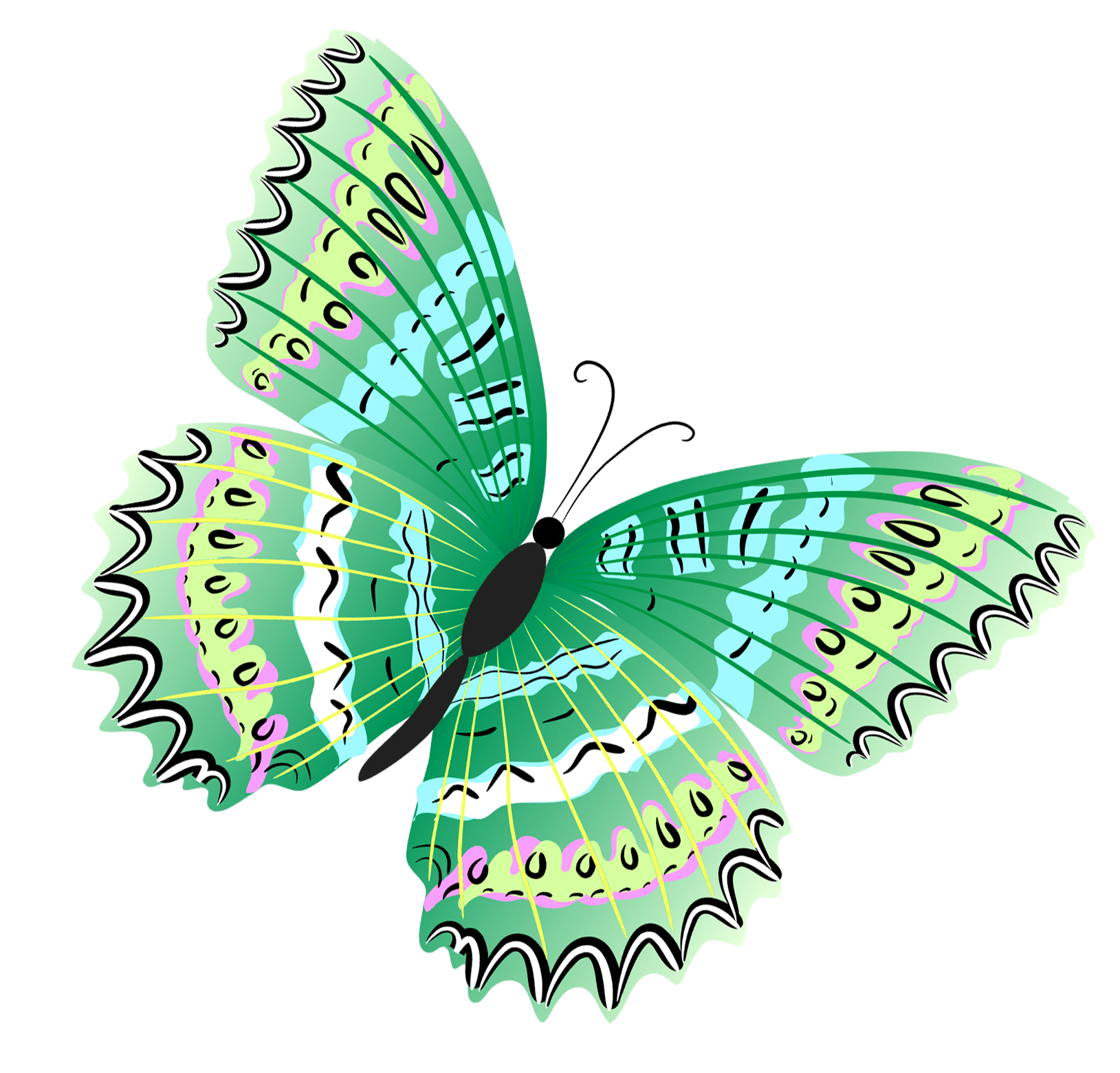 Clipart butterfly happy birthday. Green png gallery yopriceville