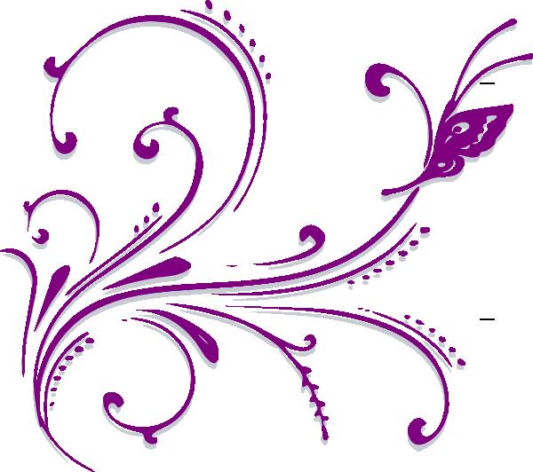 filigree clipart purple