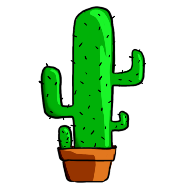 Green plant png and. Tree clipart cactus