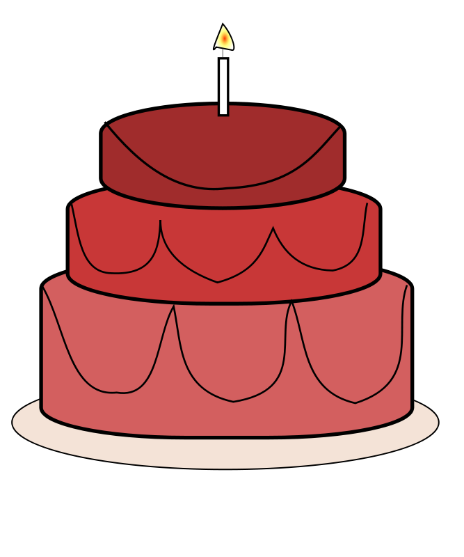 Red Cake Clipart