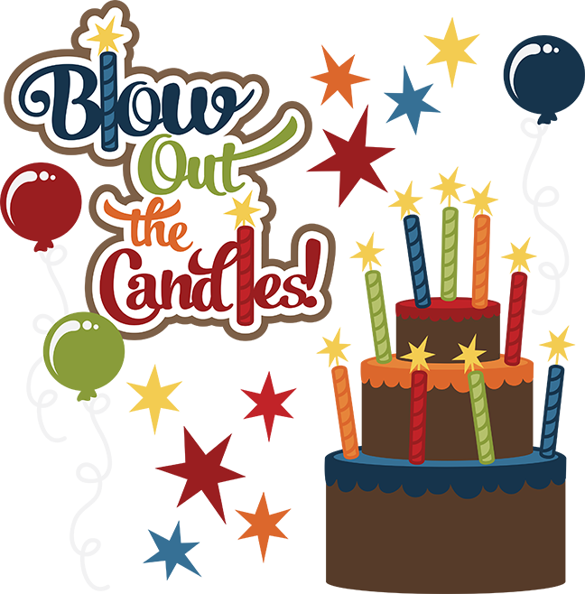 Flag clipart happy birthday. Blow out the candles