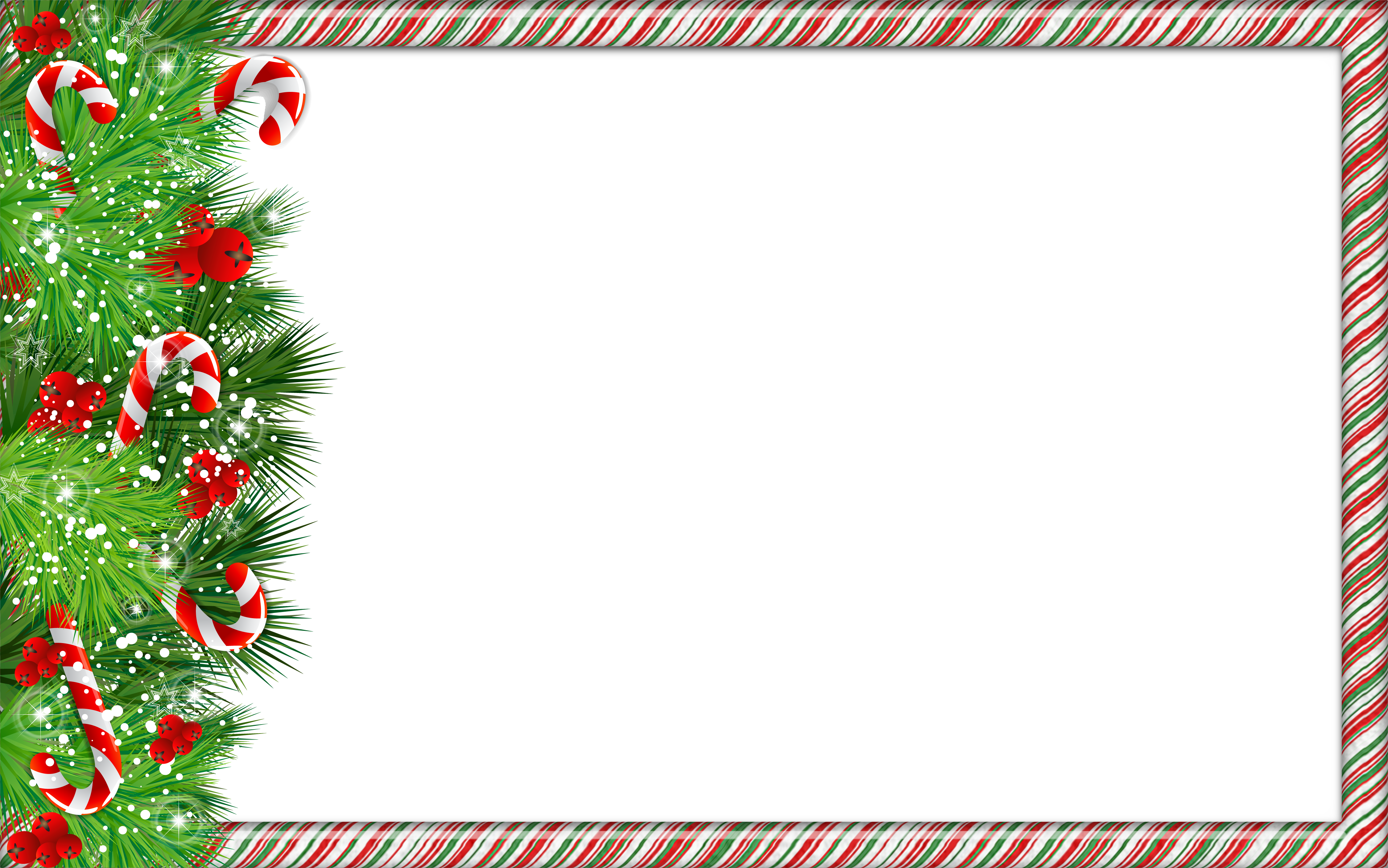 Christmas frame png. Photo with candy canes