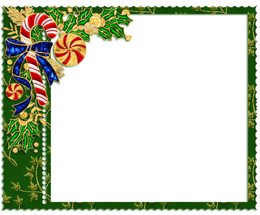 Frames clipart candy. Green png christmas frame