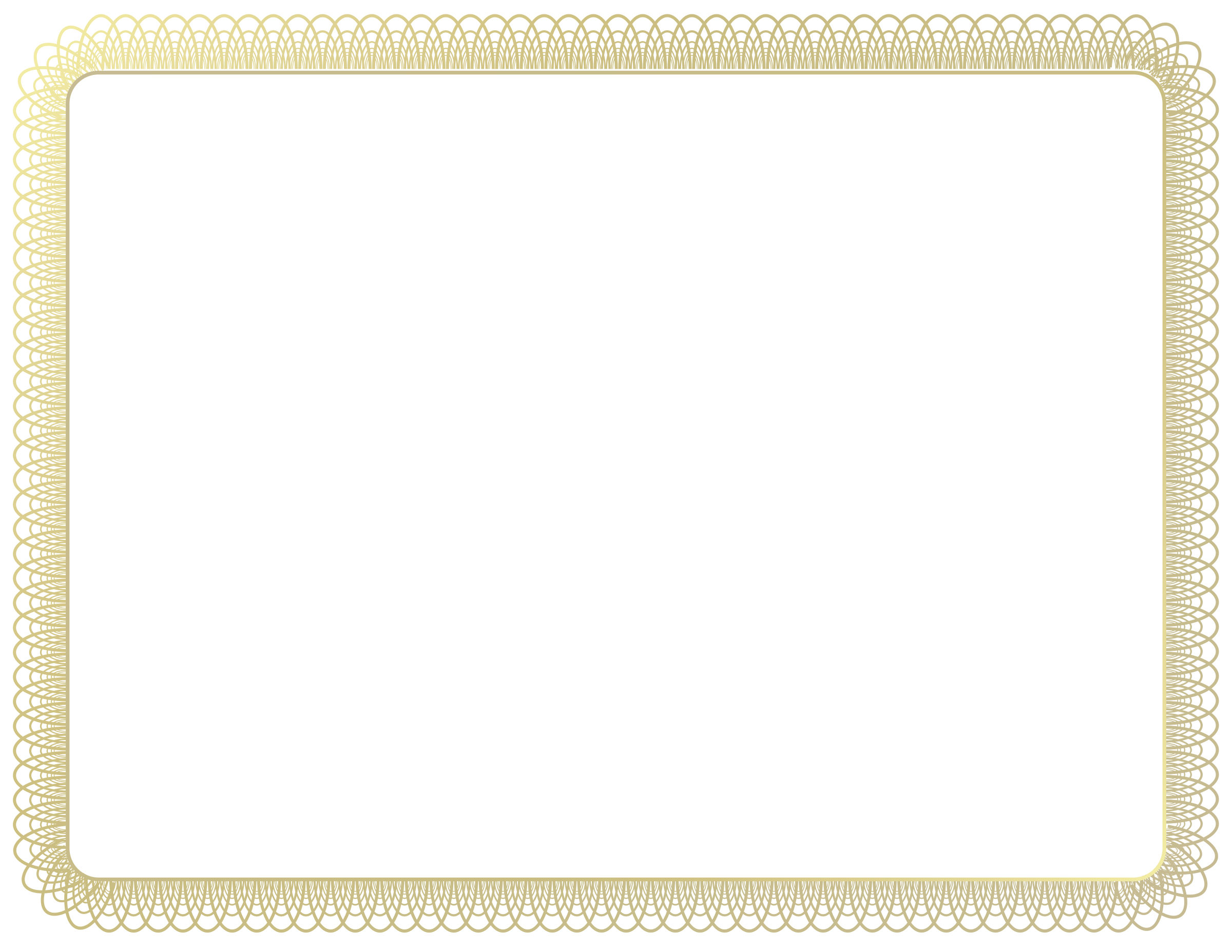 Coupon clipart border. Gold frame certificate by