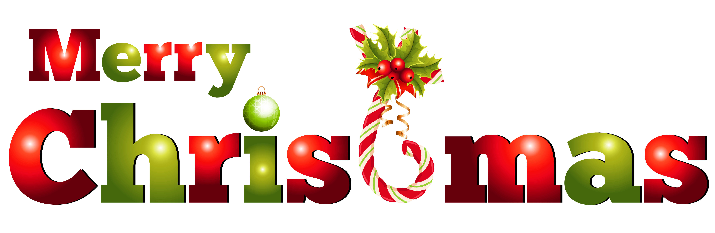Decoration clipart word. Transparent merry christmas decor