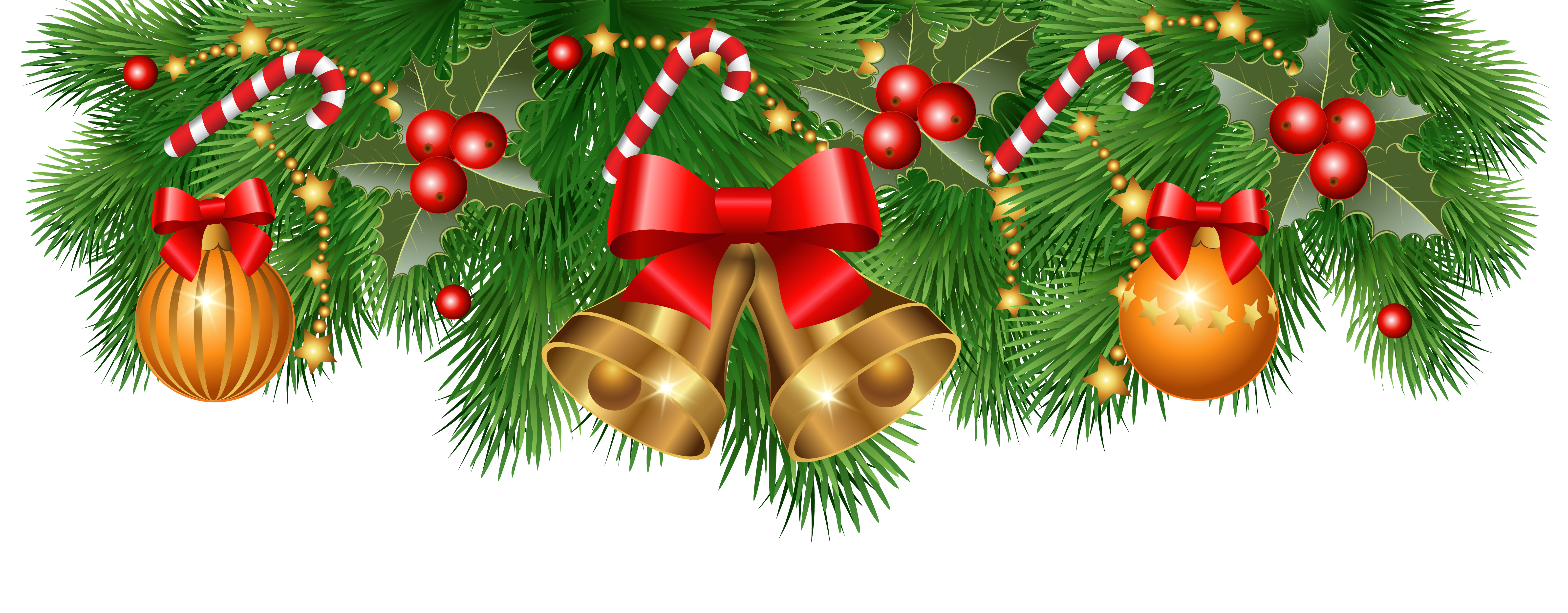 Decoration clipart image gallery. Christmas garland border png
