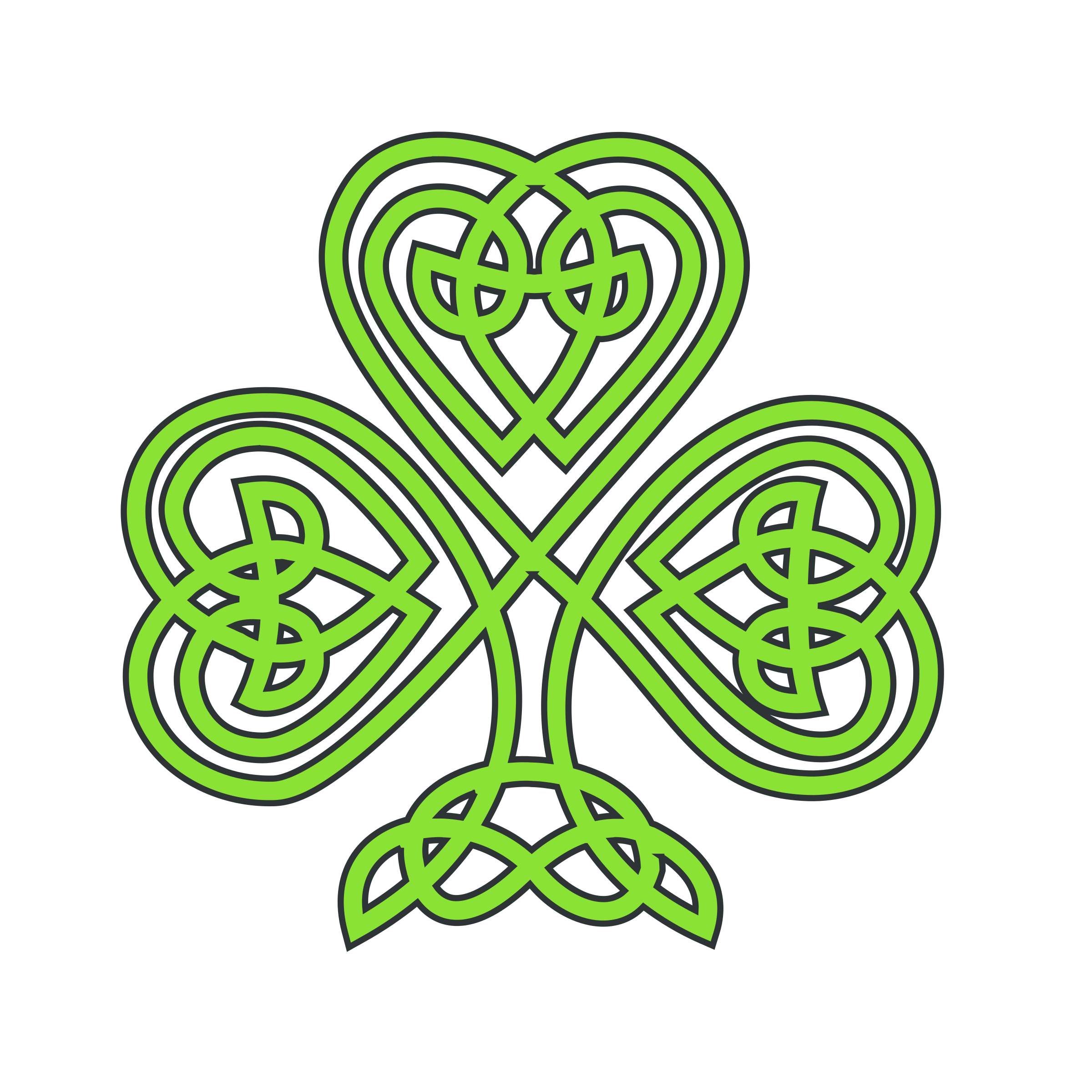 Three leaf clover at. Vines clipart celtic