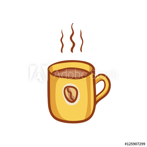 Clipart coffee banner. Mug sketchy vector design