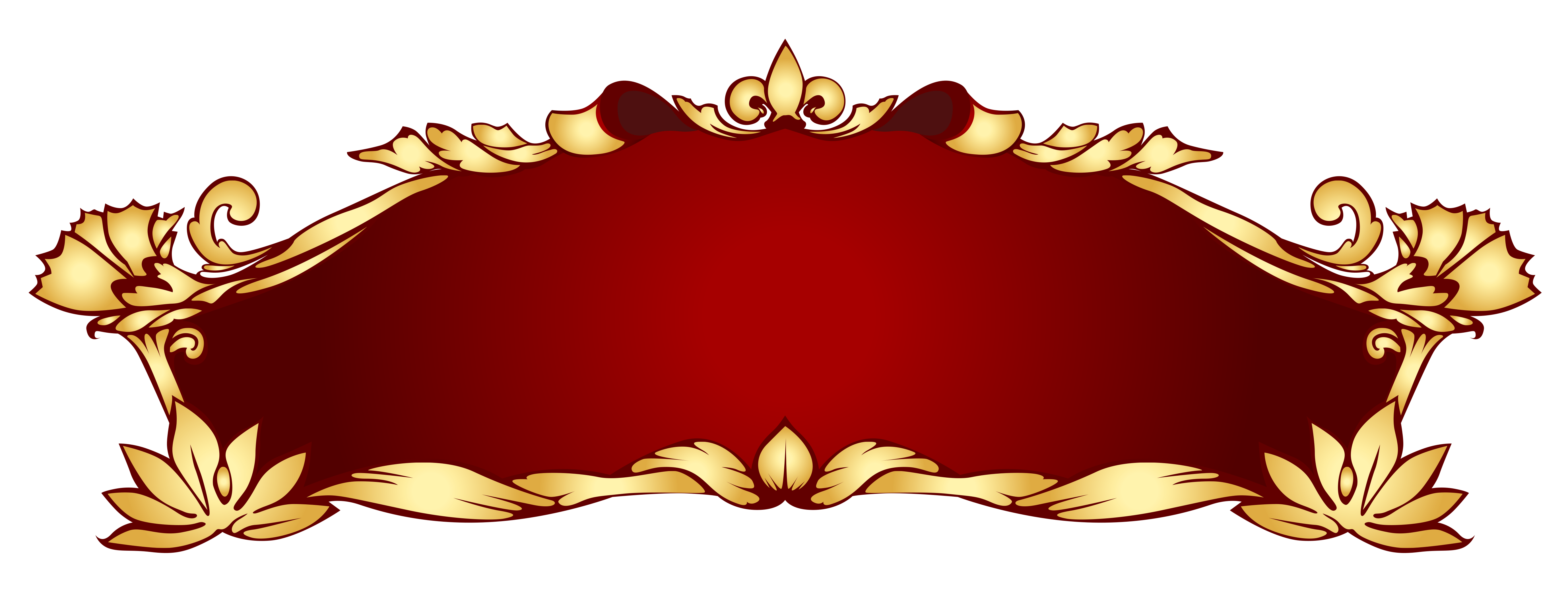 Transparent red deco png. College clipart banner