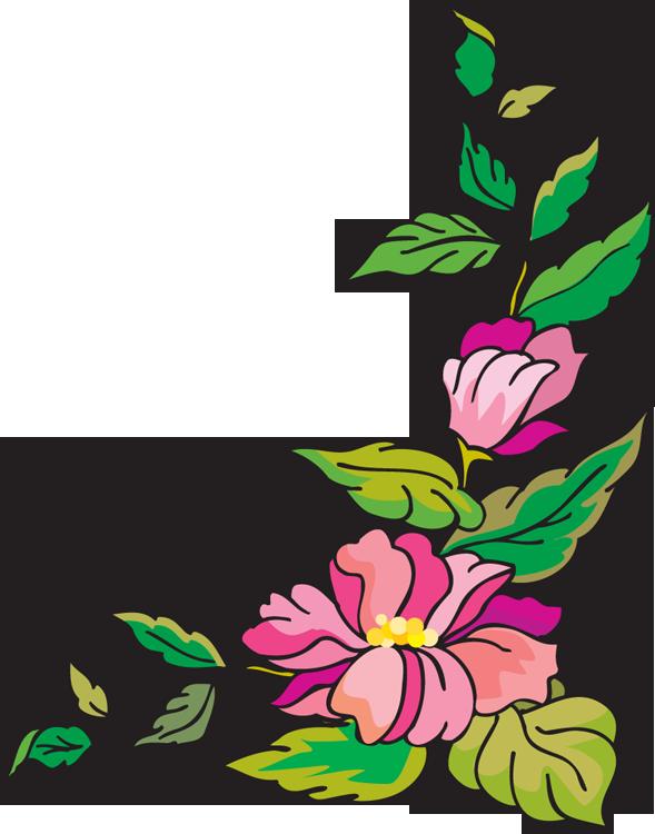 Glitter clipart corner. Flower clip art free